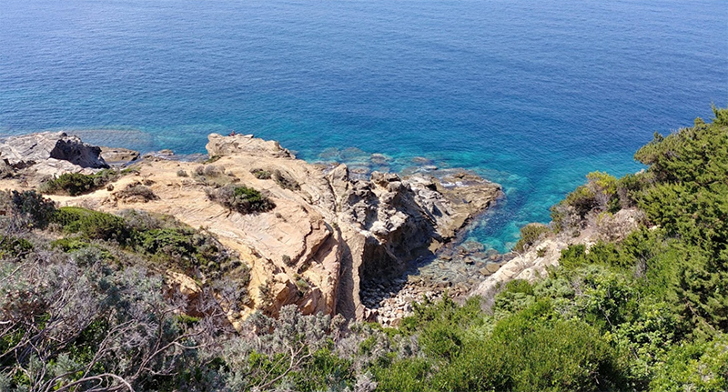 Spiaggia naturista di Punta del Miglio - Livorno